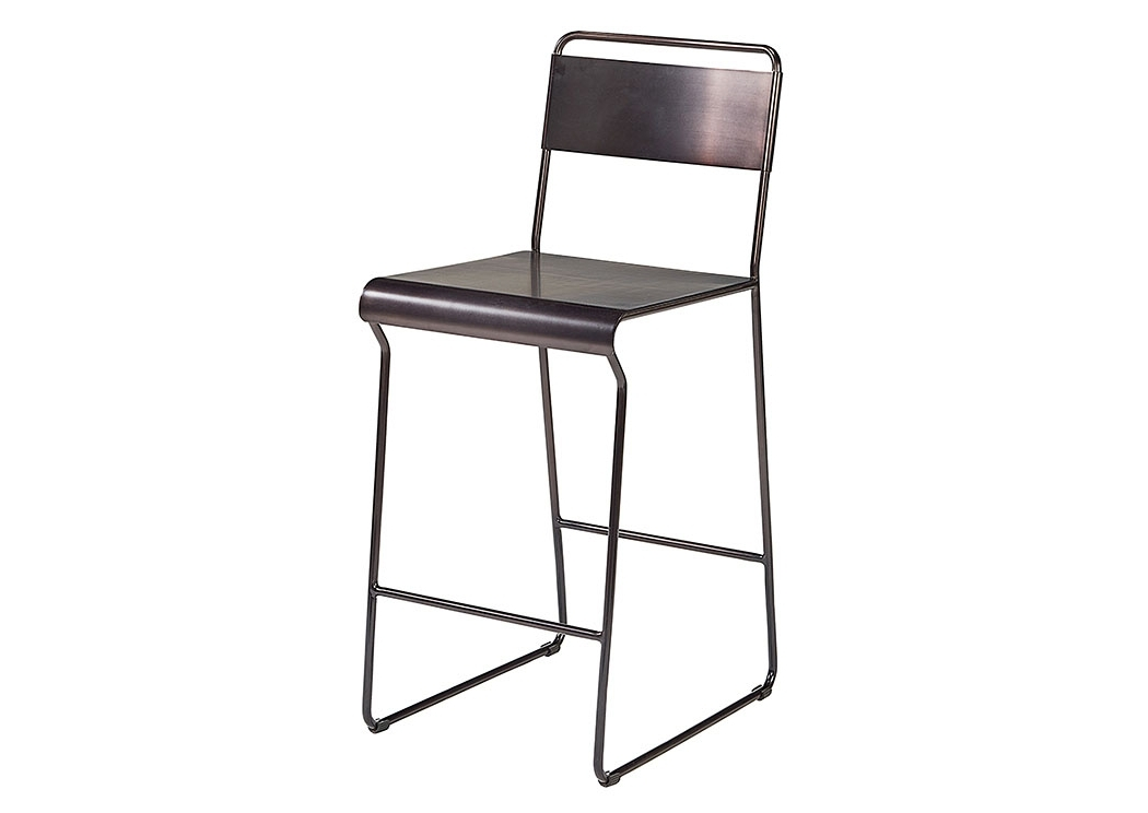 Famous Penland's Furniture Span Blackened Bronze Metal Barstool With Regard To Magnolia Home Method Mesh Back Side Chairs (View 11 of 20)