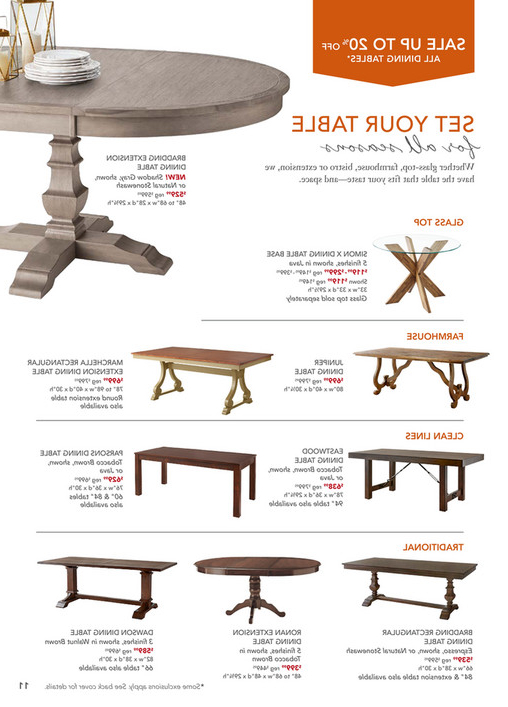 Famous Pier 1 Imports – October 2017 Mailer – Dawson Walnut Brown 82 Intended For Dawson Dining Tables (View 11 of 20)