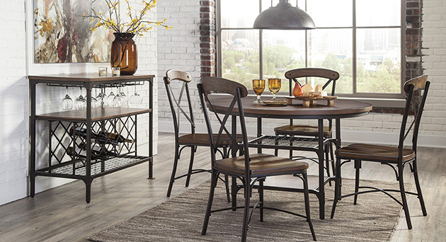 Famous Plain Design Dining Room Sets With Fabric Chairs Norwood 6 Piece Inside Norwood 6 Piece Rectangle Extension Dining Sets (View 4 of 20)