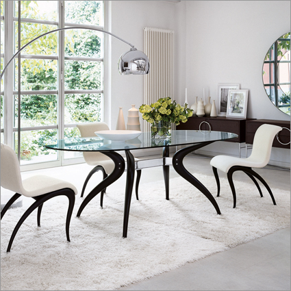 Famous Retro Glass Dining Tables And Chairs Inside Porada Retro Glass Dining Table,m. Marconato & T (View 5 of 20)