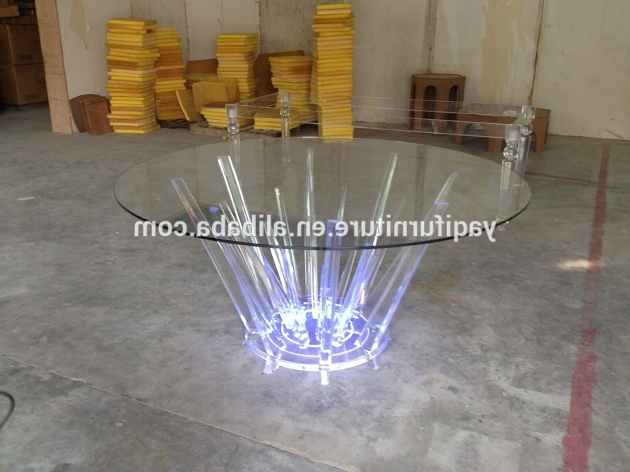 Famous Round Acrylic Dining Tables Pertaining To Led Acrylic Round Dining Table – Buy Led Acrylic Round Dining Table (View 8 of 20)