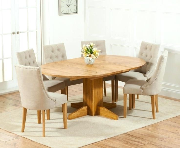 Featured Photo of Round Extending Oak Dining Tables And Chairs