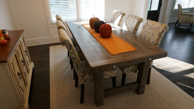 Famous Rustic Slate Gray  The Clayton Rustic Farm Dining Table – Rustic Intended For Rustic Dining Tables (Gallery 12 of 20)