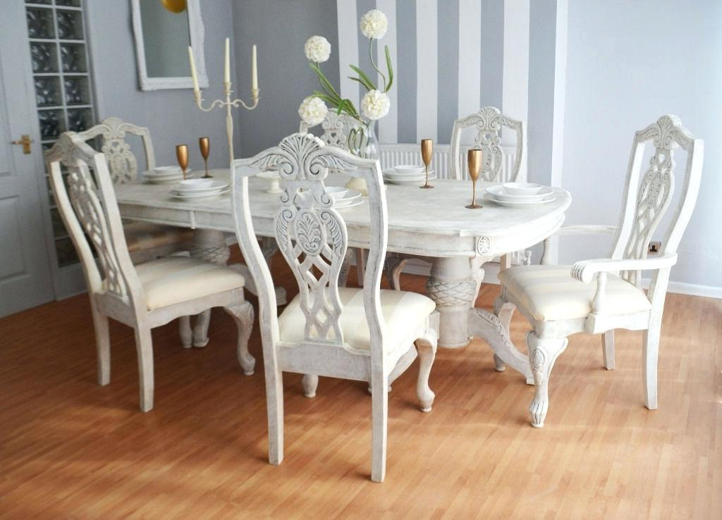 Famous Shabby Dining Tables And Chairs Pertaining To Shabby Chic Dining Table And Chairs Shabby Chic Dining Table Chairs (View 17 of 20)