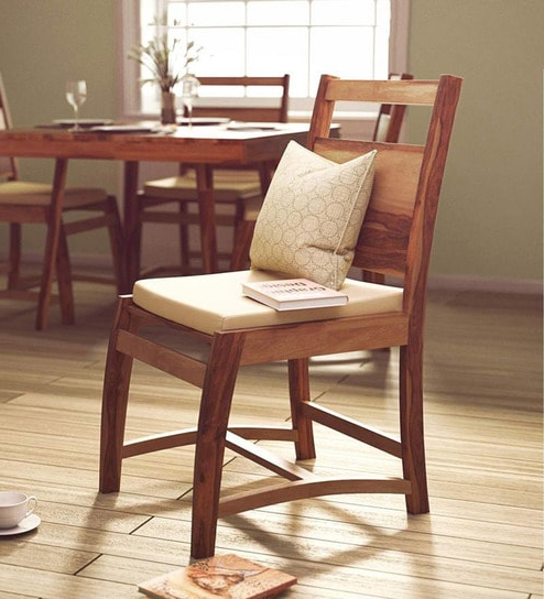 Famous Sheesham Dining Chairs Intended For Buy Oakland Dining Chair In Natural Sheesham Wood Finish (View 18 of 20)