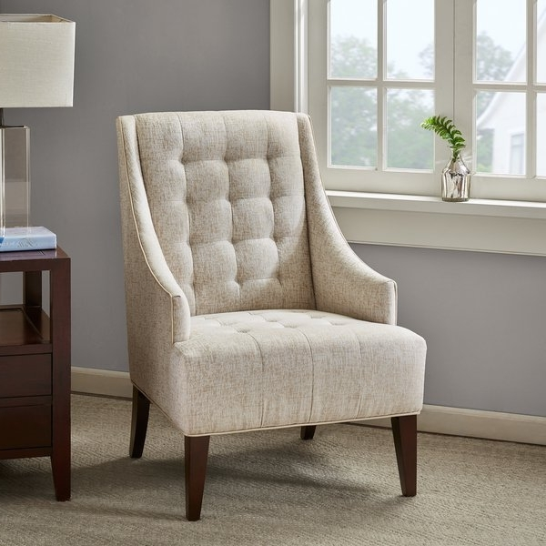 Famous Shop Madison Park Caden Cream Accent Chair – Free Shipping Today In Caden Upholstered Side Chairs (View 10 of 20)