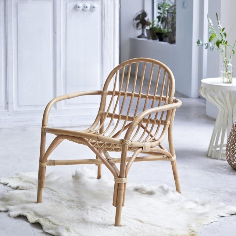Famous Tikamoon : Mina Natural Rattan Chair Regarding Natural Rattan Metal Chairs (View 2 of 20)