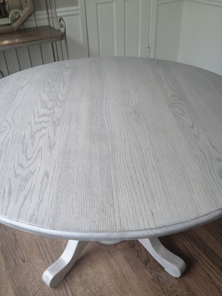 Famous Washed Old Oak & Waxed Black Legs Bar Tables Regarding Refinishing Dining Table Gray!!long And Found: Diy Kitchen Table (View 6 of 20)