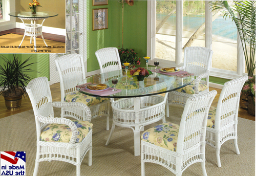 Famous Wicker And Glass Dining Tables Pertaining To South Hampton Rattan And Wicker Dining Setsclassic Rattan (View 4 of 20)