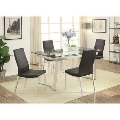 Famous Wrought Studio Stone Street 5 Piece Dining Set (View 8 of 20)