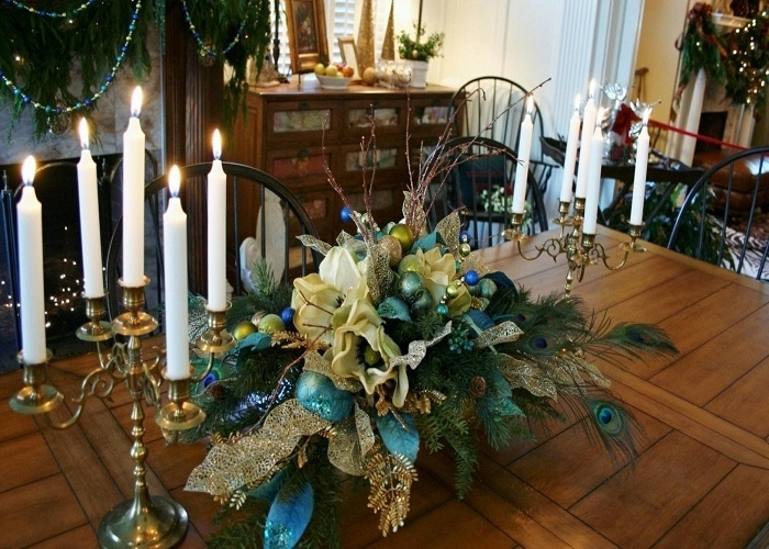 Fantastic Silk Floral Arrangements For Dining Room Table – Esescatrina Regarding Current Artificial Floral Arrangements For Dining Tables (View 12 of 20)
