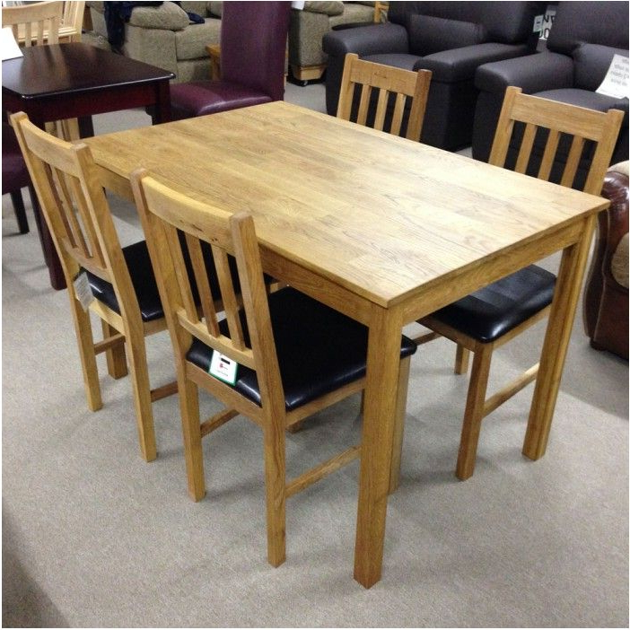 Fantastic Solid Oak Dining Table With 4 Chairs Flintshire Chester With Most Up To Date Oak Dining Tables And 4 Chairs (View 6 of 20)