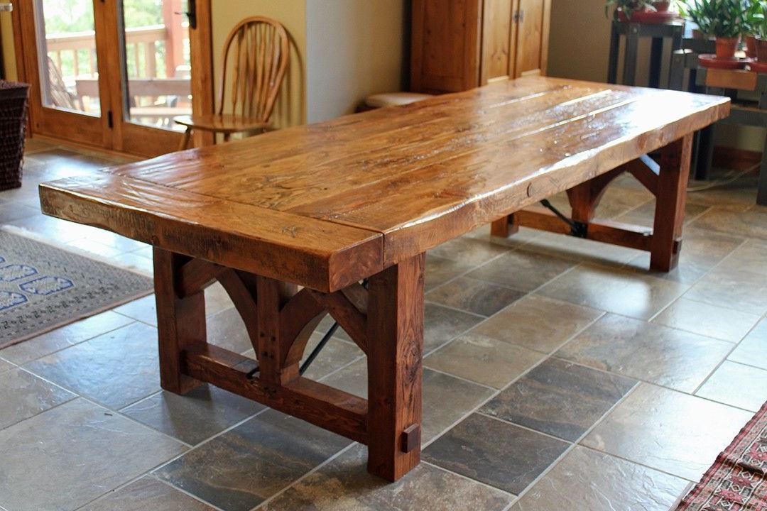Farmhouse, Industrial, Modern Inside Trendy Craftsman Rectangle Extension Dining Tables (View 11 of 20)