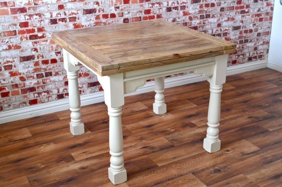 Fashionable 3Ft Dining Tables With Extending Rustic Dining Table Drop Leaf – Folding Ergonomic Space (View 9 of 20)