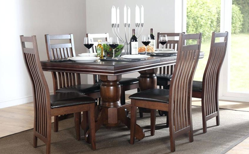 Fashionable 6 Chairs Dining Tables In Round Dining Set For 6 Full Size Of Furniture Fascinating 6 Chair (View 17 of 20)