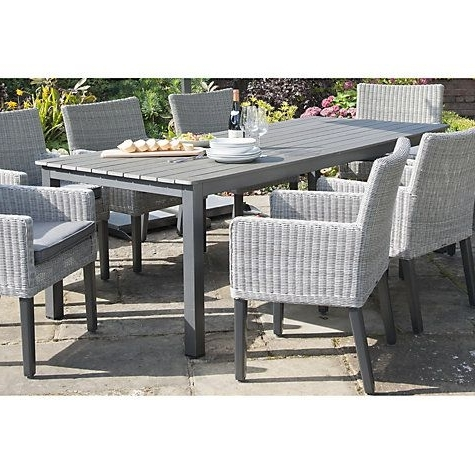 Fashionable 8 Seat Outdoor Dining Tables Regarding Buy Kettler Bretagne 8 Seater Outdoor Dining Table Online At (View 11 of 20)