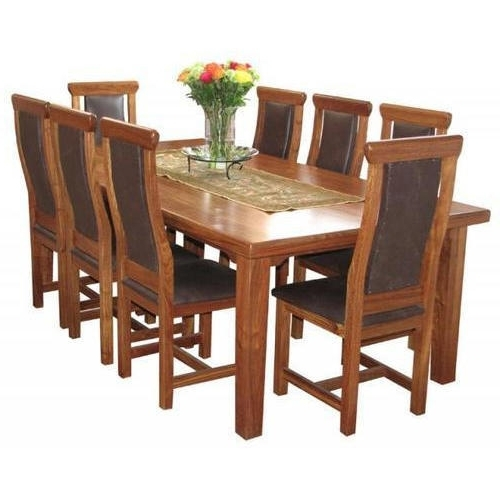 Fashionable 8 Seater Dining Table Sets In Mahalaxmi Art Brown 8 Seater Dining Table Set, Rs 35000 /set (View 13 of 20)