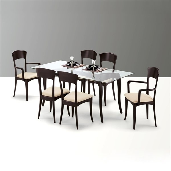 Fashionable Antares/giusy Rectangular Dining Set Wenge Four Side Chairs Included Intended For Dom Side Chairs (View 8 of 20)