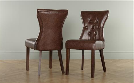 Fashionable Bewley Ivory Leather Button Back Dining Chair (Oak Leg) Only £ (View 9 of 20)