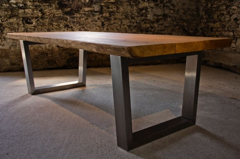 Fashionable Brushed Steel Dining Tables Pertaining To Large Oak Dining Table Selection (View 4 of 20)