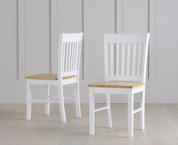 Fashionable Buy Asti Oak And White Dining Chairs (Pair) The Furn Shop Throughout White Dining Chairs (Gallery 19 of 20)