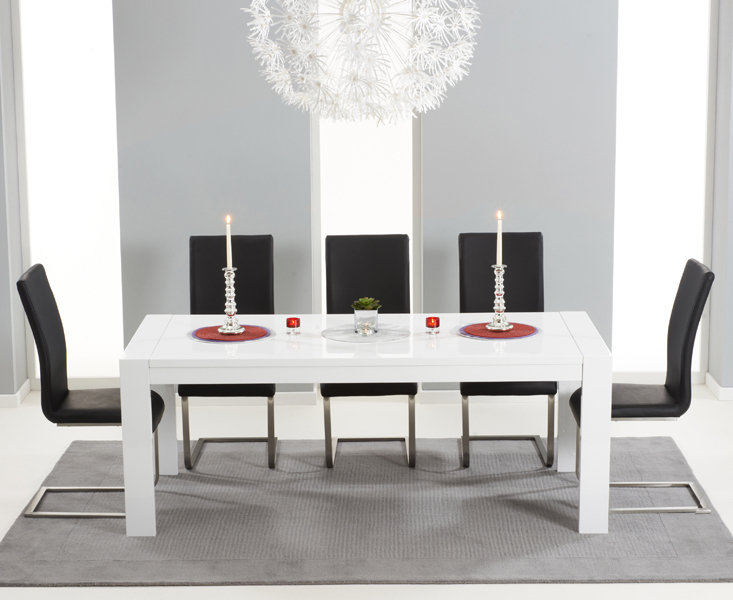 Fashionable Buy Large White Extendable Dining Table Intended For Extending Gloss Dining Tables (View 6 of 20)