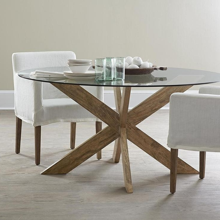Fashionable Contemporary Base Dining Tables Intended For Modern X Base Dining Table In Brown (View 9 of 20)