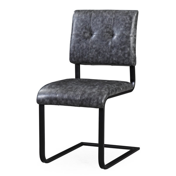 Fashionable Cora Grey Faux Leather/steel/wood Side Chair – Free Shipping Today Intended For Cora Side Chairs (View 12 of 20)