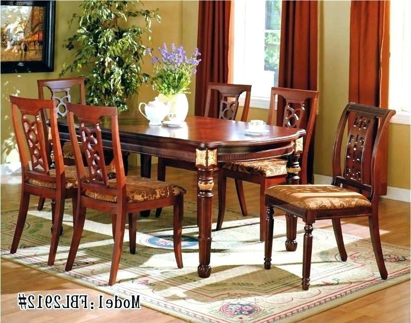 Fashionable Cozy Indian Dining Table N Teak Wood Hand Carved Dining Room In Indian Dining Room Furniture (View 6 of 20)