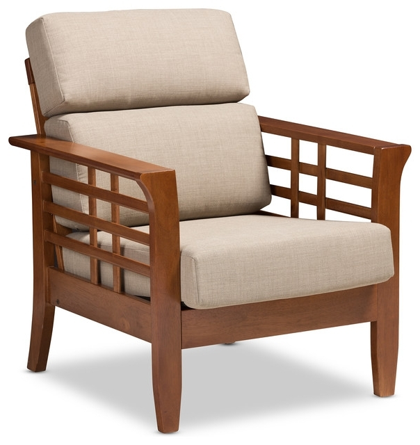 Fashionable Craftsman Arm Chairs With Larissa Fabric High Back Cushioned Living Room 1 Seater Lounge Chair (View 13 of 20)