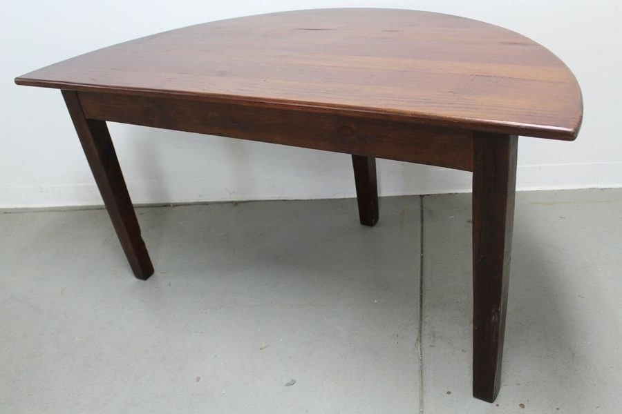 Fashionable Custom Made Small Half Circle Dining Tableecustomfinishes Inside Circular Dining Tables (View 9 of 20)