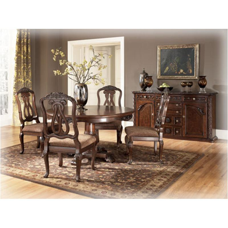 Fashionable D553 50t Ashley Furniture Round Pedestal Table In Dark Brown Wood Dining Tables (View 17 of 20)