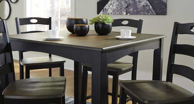 Fashionable Dining Room Langlois Furniture – Muskegon, Mi Intended For Jaxon 5 Piece Round Dining Sets With Upholstered Chairs (View 8 of 20)