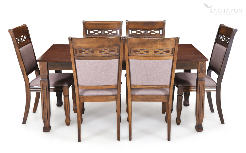 Fashionable Dining Table Sets With 6 Chairs Regarding Buy Royaloak Serene 6 Seater Dining Set With Cushioned Chairs (View 8 of 20)