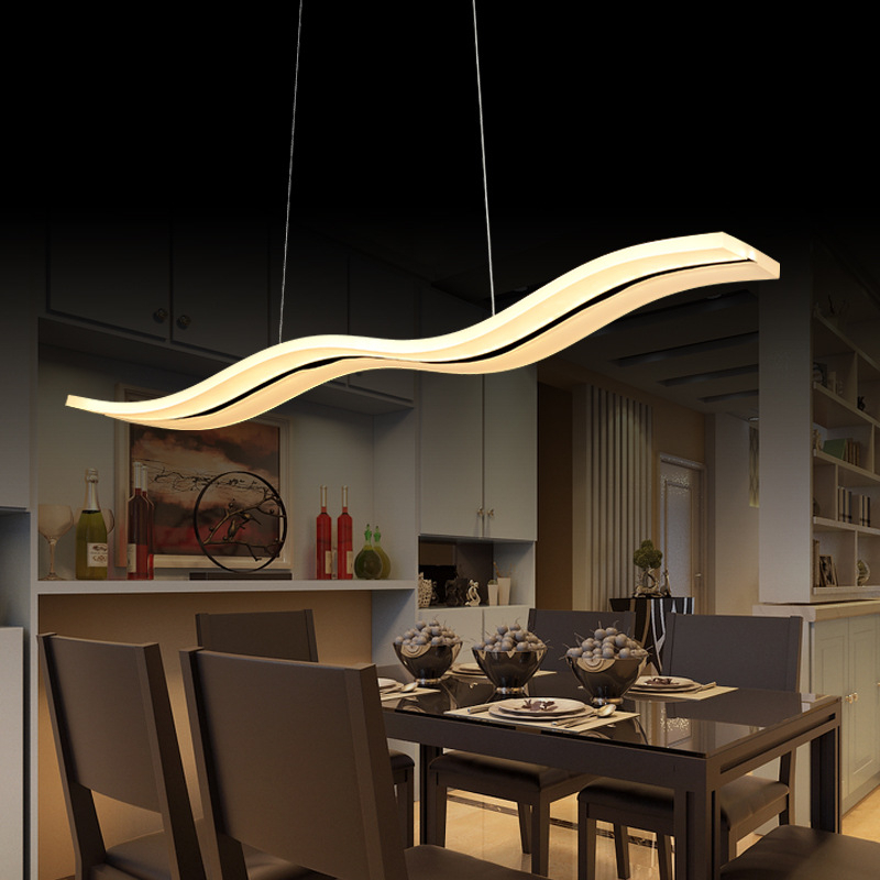 Fashionable Dining Tables Lights In Led Pendant Lights Modern Kitchen Acrylic Suspension Hanging Ceiling (View 9 of 20)