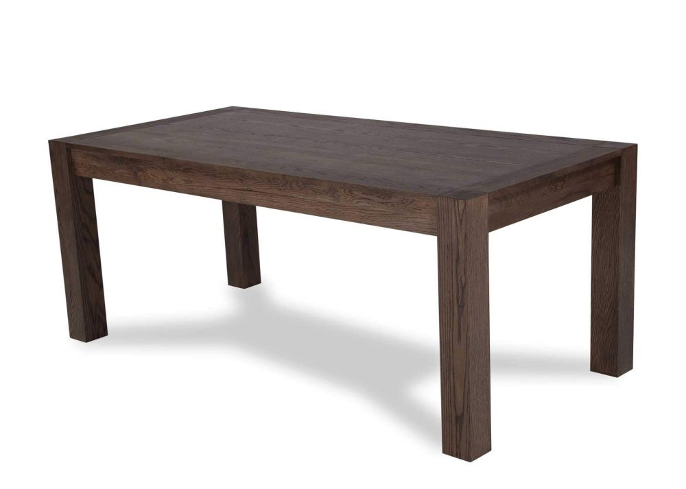 Fashionable Dining Tables With Large Legs Throughout Turin Large Dark Oak Extendale Dining Table – Ez Living Furniture (View 11 of 20)