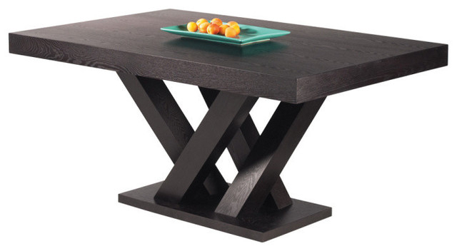 Fashionable Espresso Rectangular Dining Table – Dining Table And Alarm Clock Inside Lindy Espresso Rectangle Dining Tables (View 3 of 20)