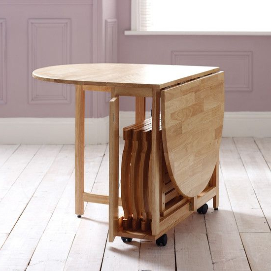 Fashionable Folding Dining Tables For Foldable Dining Table For Saving Precious Space At Homes – Furniture (View 5 of 20)