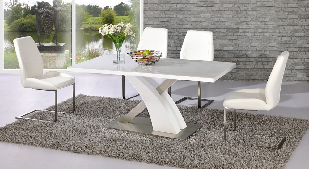 Fashionable Glass And White Gloss Dining Tables Pertaining To High Gloss Dining Table – Interior Design And Luxury Furniture (View 3 of 20)