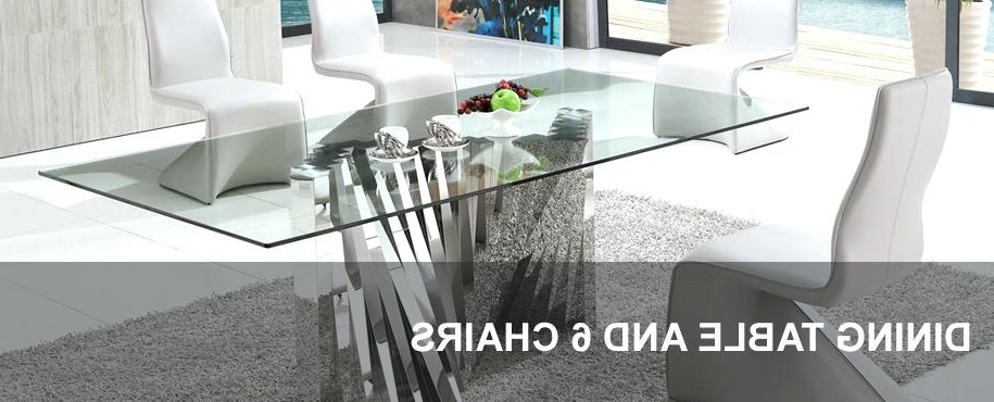 Fashionable Glass Extendable Dining Tables And 6 Chairs Inside Dining Room 6 Chairs Round Table That Seats 6 Black Extendable (View 14 of 20)