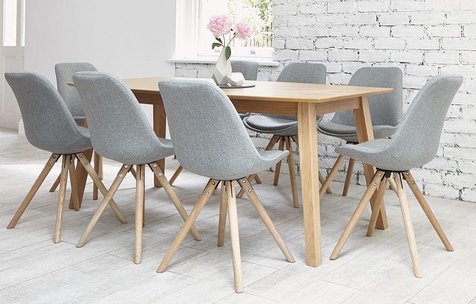 Fashionable Grey 8 Seater Dining Set – Shell Chairs – Home Furniture – Out & Out Regarding Eight Seater Dining Tables And Chairs (View 13 of 20)