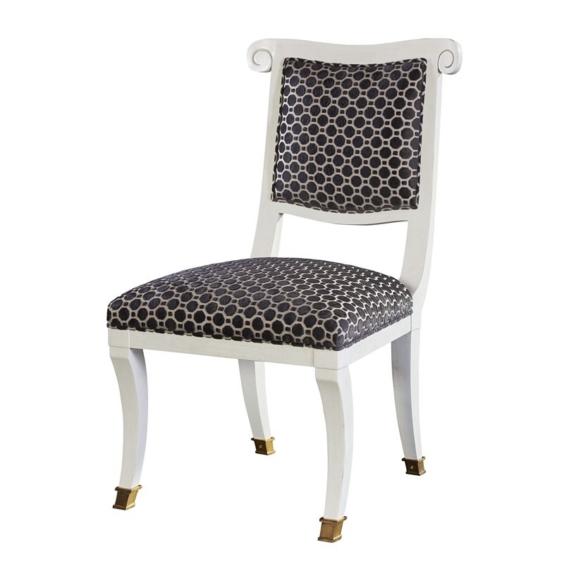 Fashionable Hickory Chair 5350 22 Alexa Hampton Ilsa Side Chair Open Panel For Alexa White Side Chairs (View 11 of 20)