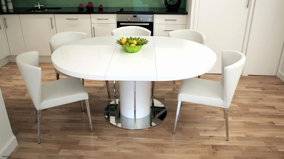 Fashionable High Gloss Dining Tables And Chairs Inside Black High Gloss Dining Table And Chairs New 48 Beautiful Round (View 19 of 20)
