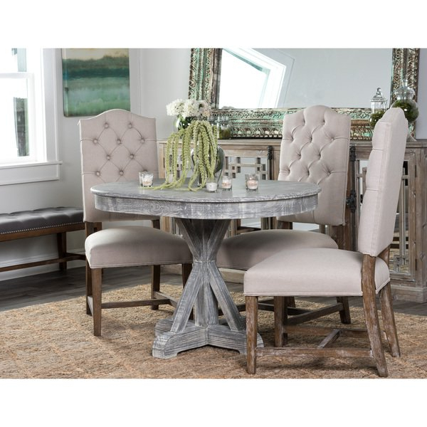 Fashionable Magnolia Home English Country Oval Dining Tables With Shop Rockie Wood 47 Inch Grey Oval Dining Tablekosas Home – On (View 9 of 20)