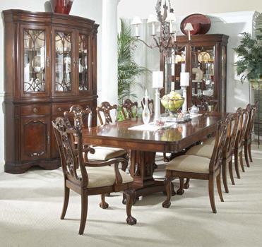 Fashionable Mahogany And More Writing Tables – Heritage Mahogany 13 Piece Dining Set Pertaining To Mahogany Dining Table Sets (View 4 of 20)