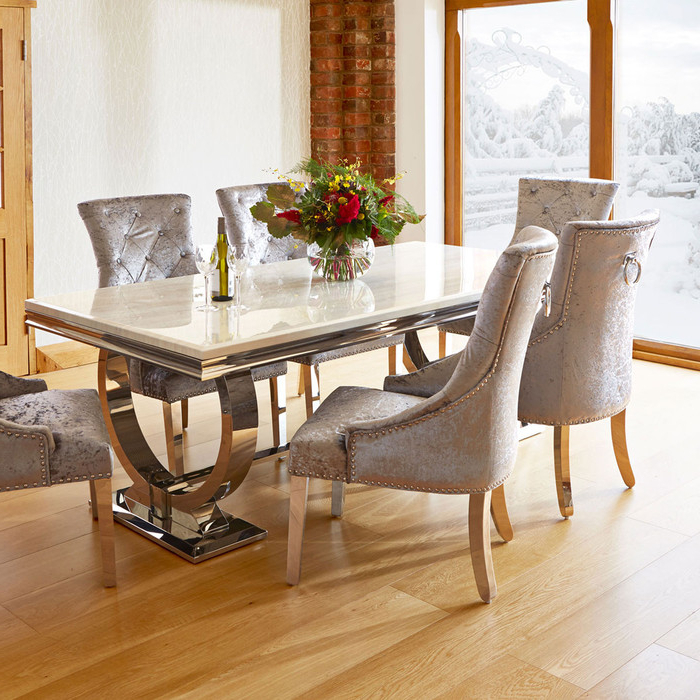 Fashionable Marble Dining Tables Sets Intended For (View 5 of 20)