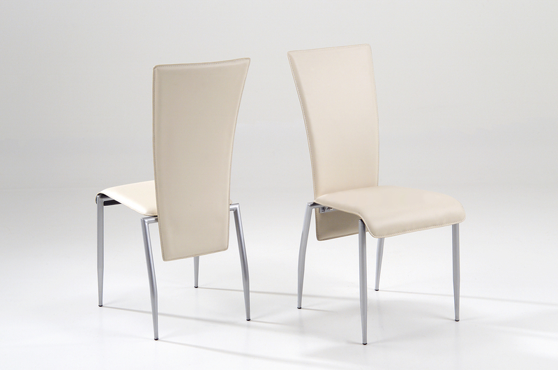 Fashionable Milan Dining Chair Cream Leather – Quality Dining Chairs With Cream Leather Dining Chairs (View 8 of 20)