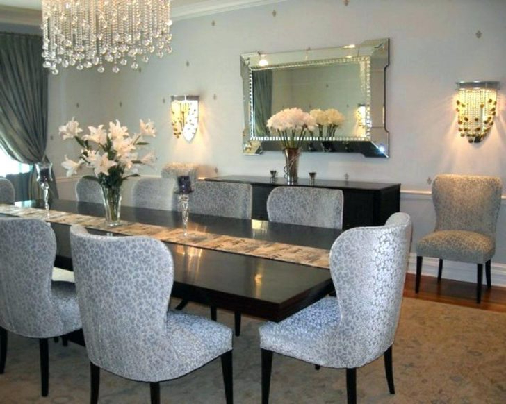 Fashionable Mirror Glass Dining Table Chambernationme Modern Design For Room Pertaining To Mirror Glass Dining Tables (View 15 of 20)