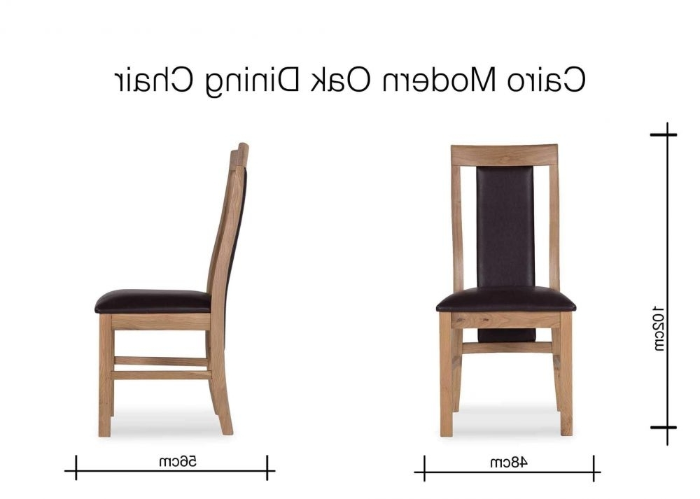 Fashionable Oak And Leather Dining Chair – Cairo – Ez Living Furniture Regarding Caira Upholstered Arm Chairs (View 15 of 20)