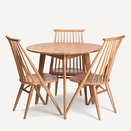 Fashionable Oak Dining Suite In Dodge Scandinavian Modern Style Furniture, Solid Wood Oak Dining (View 16 of 20)